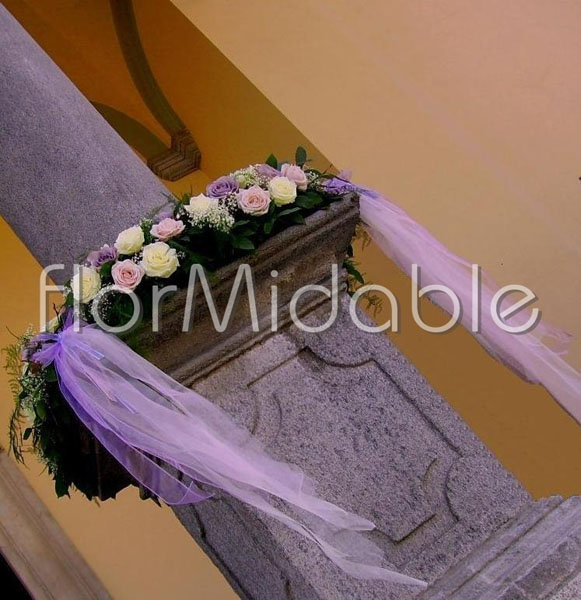 Wedding in Italy photos of lilac and purple flowersbouquets Flormidable