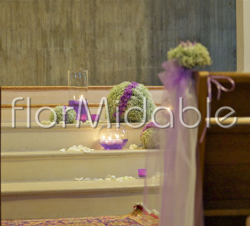 Flower decorations for church weddings and civil ceremonies Flormidable