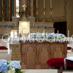 Romantic casualness of the blue wedding ceremony decorations